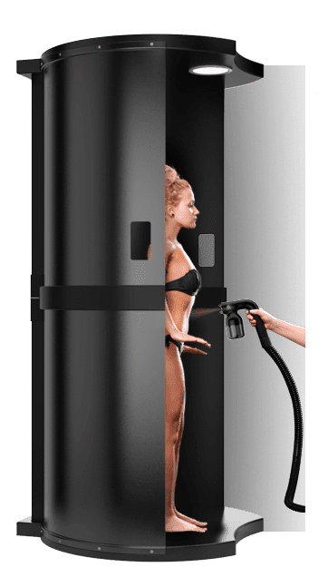 Spray tan booth by minetan.eu
