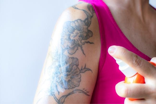 sunscreen on tattoos