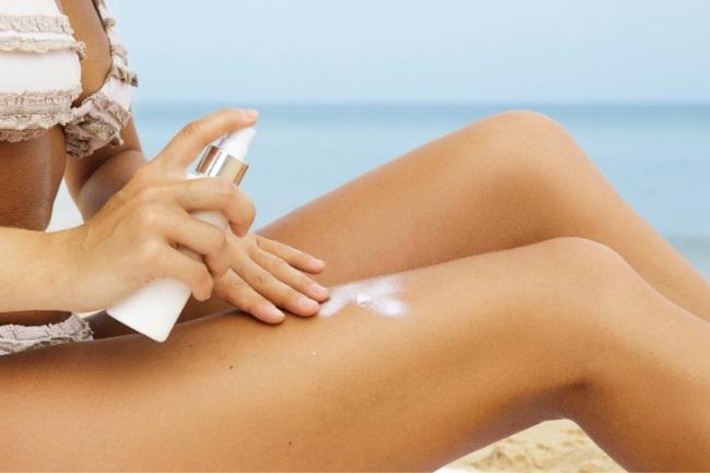sunscreen spray